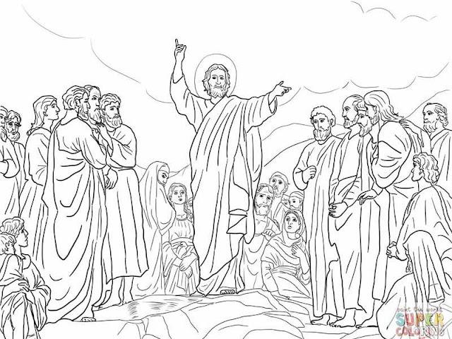 Le sermon sur la montagne - Jésus dit les Béatitudes