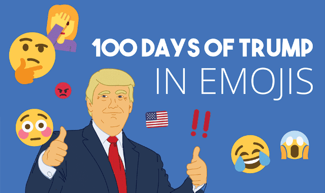 100 Days of Trump in Emojis