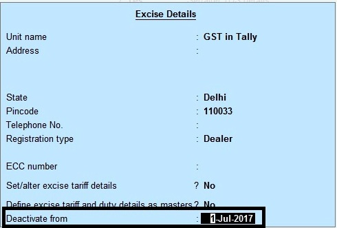 How to Deactivate VAT, Service Tax and Excise in Tally?