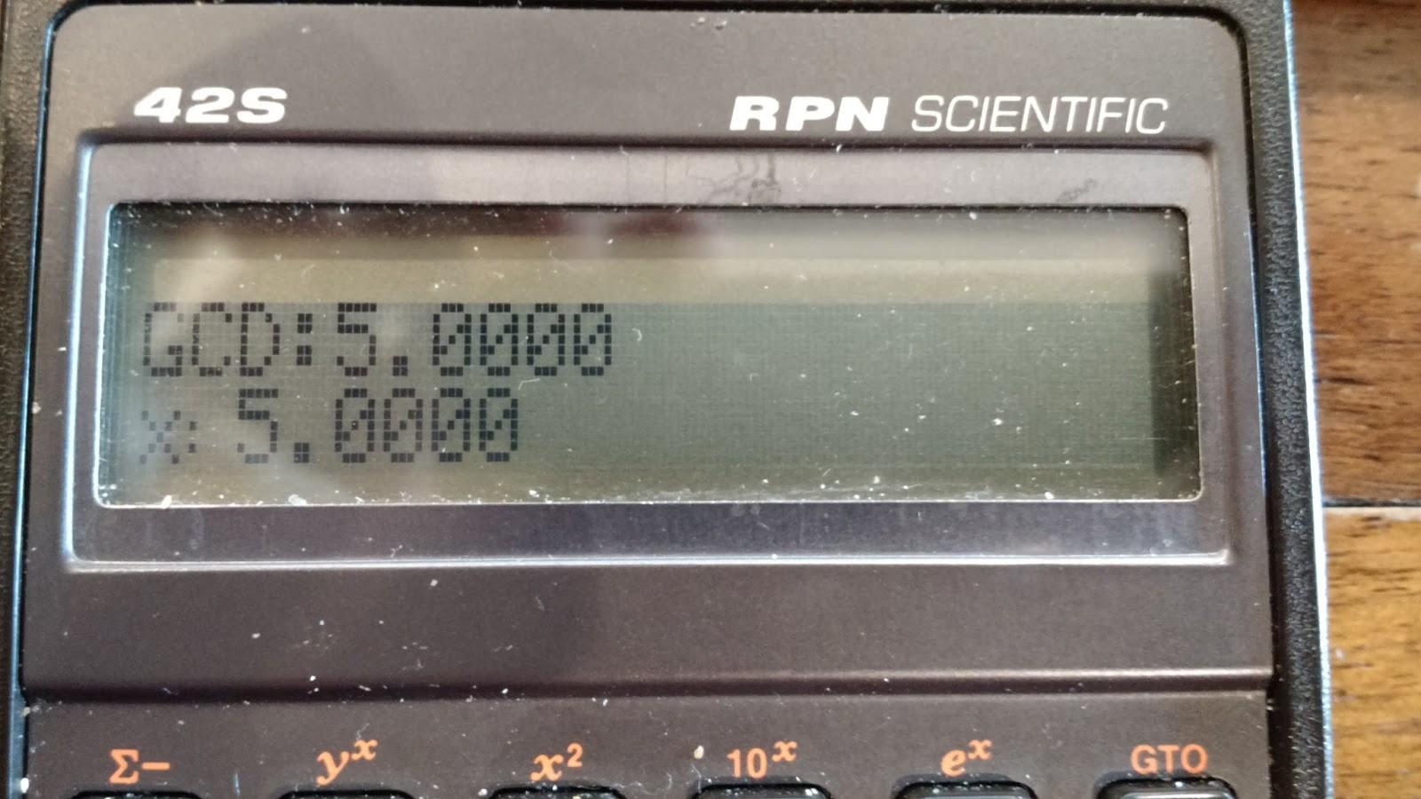 Eddie's Math and Calculator Blog: HP 42S Programming Part I