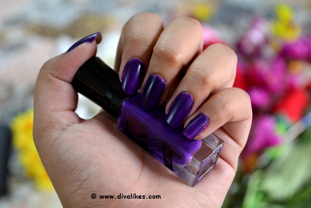 Sally Hansen I Heart Nail Art Neon Nail Color Vibrant Violet Nails