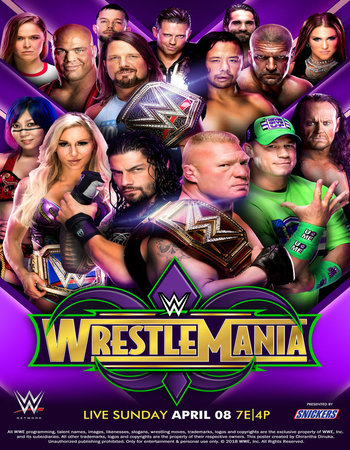 WWE WrestleMania 34 (2018) PPV WEBRip 480p Full Show Download