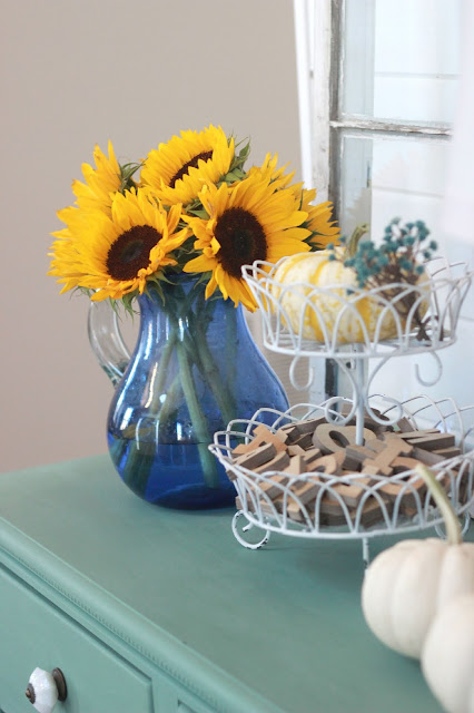 fall decor sunflowers