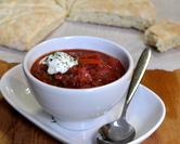 January - Karelian Borscht (Finnish - Russian Beet Borscht Soup)