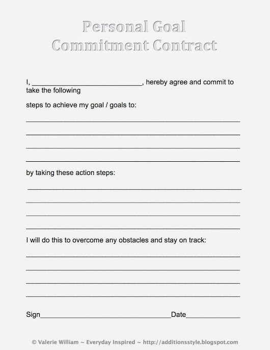 Everyday Inspired: Make a Commitment to Yourself