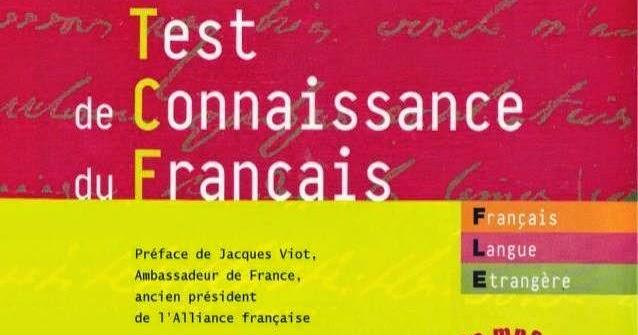 test de connaissance du français tcf livre+cd gratuit