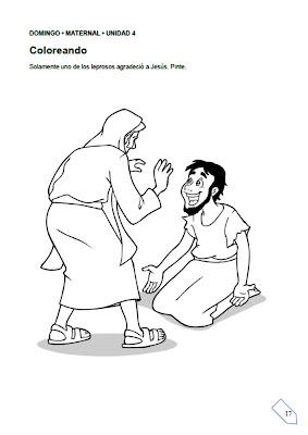 Resultado de imagem para actividades de los diez leprosos ebi