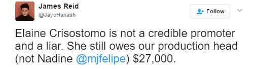 James Reid Finally Breaks Silence On 'JaDine Is Rude' Issue: 'Elaine Crisostomo is a liar'