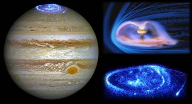 Hubble photographs stunning photos of Jupiter's giant auroras |UFO ...
