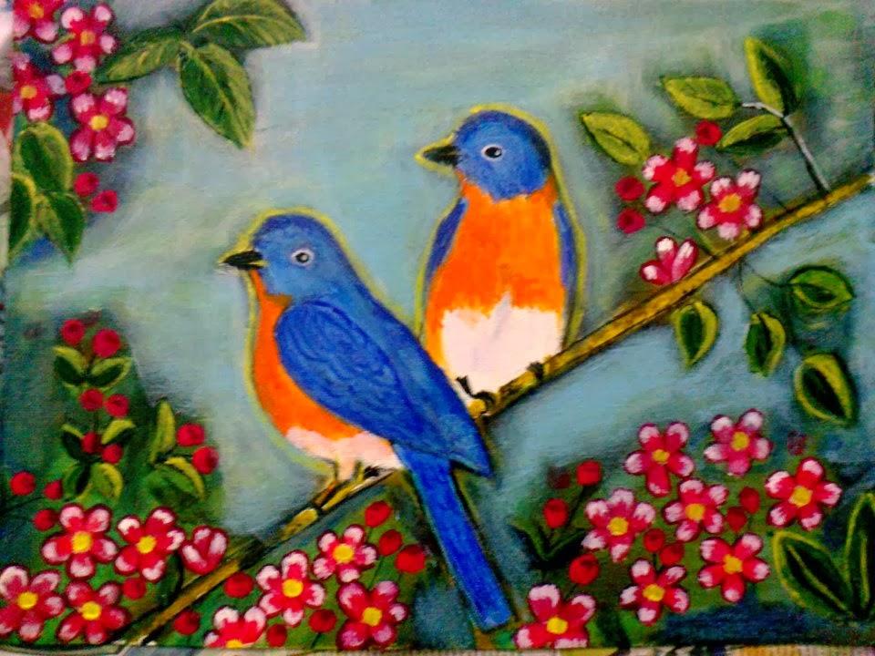 FREE 15+ Acrylic Paintings in PSD | Vector EPS  |Bird Painting Acrylic