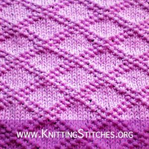 King Charles Brocade stitch   Knitting Stitch Patterns