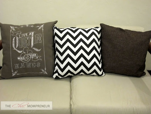 Grain Sack and Chevron Pillows from Regalong Pambahay