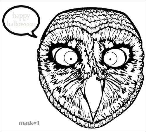 My Owl Barn: Free Printable Halloween Owl Masks