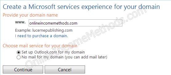 Setup Outlook for Custom Domain