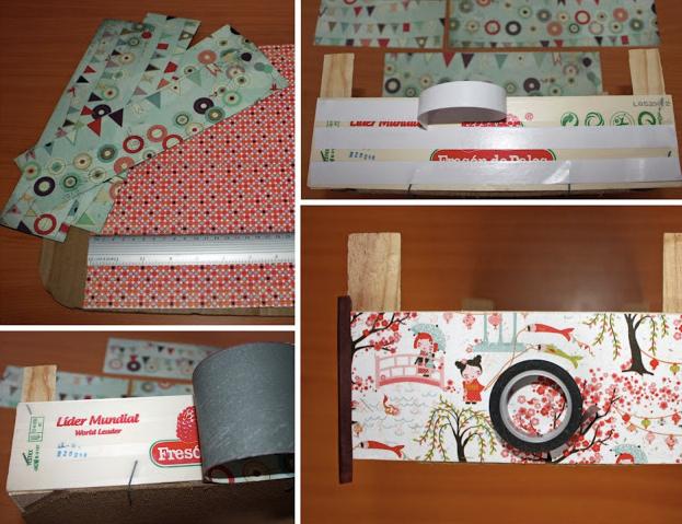 tutorial para decorar con papel unas cajas de fresas