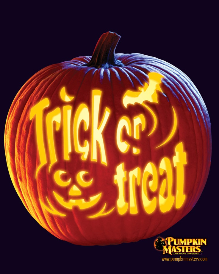 Trick or Treat Halloween Pumpkin Carving Ideas