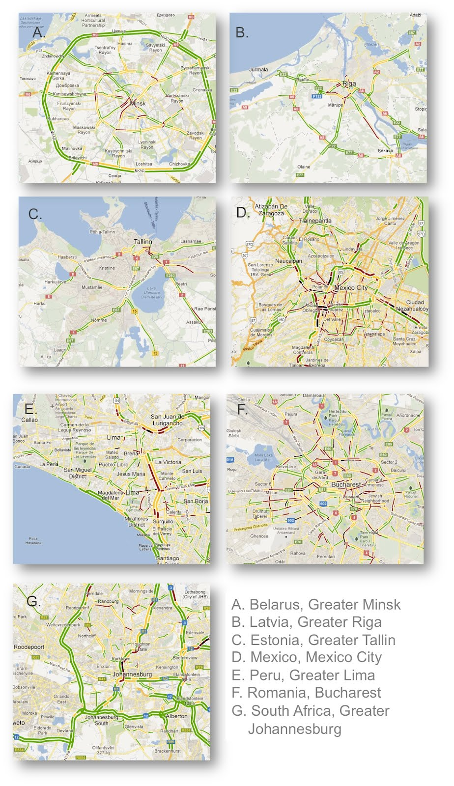 Google Lat Long: Get traffic conditions in 7 new countries ...