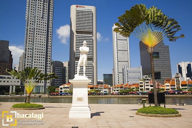 Raffles' Landing Site di Singapore River, Tempat Wisata di Singapura : tempatwisata.biz.id