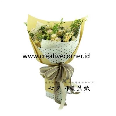 Kertas Buket Bunga / Hand Bouquet Seri LL-060060-Polkadot