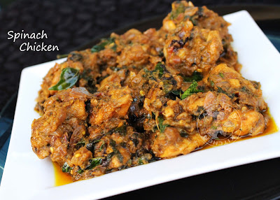 healthy chicken recipe with spinach KERALA