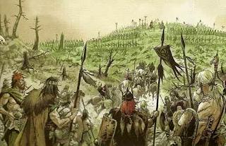 Ataque cimbrio al campamento romano - Batalla Arausio