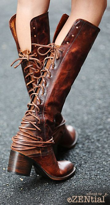 Boho Leather Long Boot