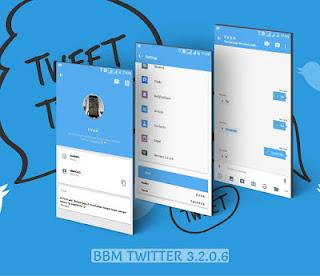BBM Mod Apk Twitter v3.2.0.6 Terbaru Free Download