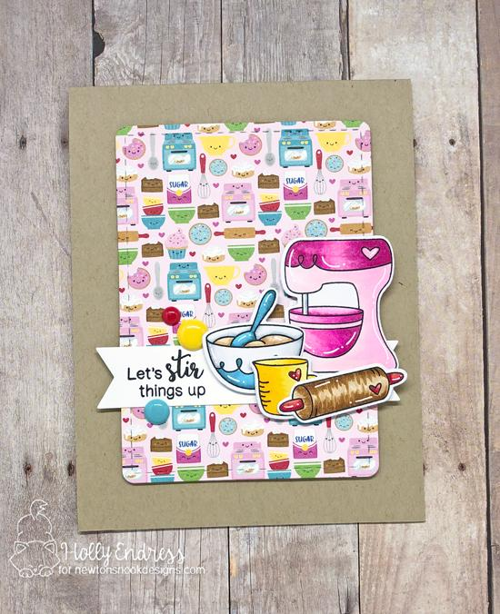Let's Stir Things Up  | Baking Themed Card by Holly Endress | Made from Scratch Stamp Set by Newton's Nook Designs #newtonsnook #handmade