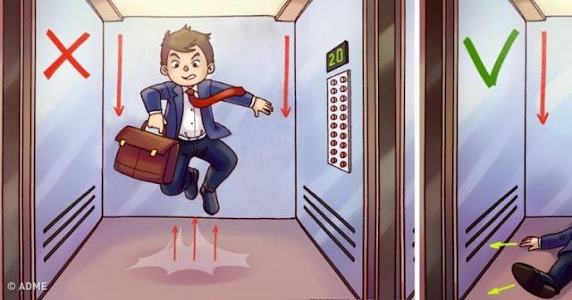 Δείτε τι πρέπει να κάνετε για να βγείτε ζωντανοί από ένα ασανσέρ που πέφτει σε ελεύθερη πτώση!