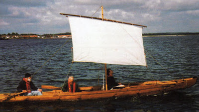 Replica of Ferriby boat being sailed (http://www.ferribyboats.co.uk/)