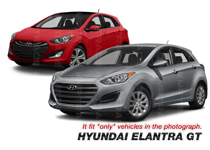 Sports Hole Plate Window Glass C Pillar For 12 13 Hyundai New i30 Elantra GT