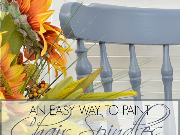 Easy Way To Paint Chair Spindles When You Can't Spray