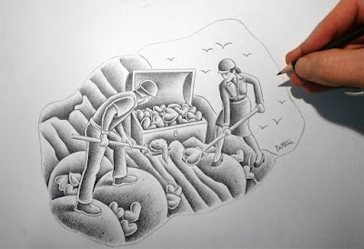 sketch drawing by ben heine