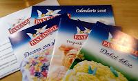 Logo Calendari 2016 e ricettari omaggio Pane Angeli in consegna