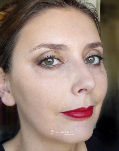 Wearing L'Absolu Rouge Définition Lipstick by Lancôme in Le Carmin on lips, fotd, motd