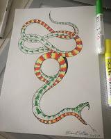 змея тату