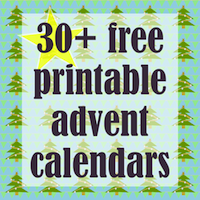 Free printable Christmas Countdown - mini Adventskalender - matchbox wrap
