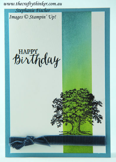 #thecraftythinker, #cardmaking, #stampinup, #masculinecard, #rubberstamping, Lovely As A Tree, Masking & Sponging, Stampin' Up Australia Demonstrator, Stephanie Fischer, Sydney NSW