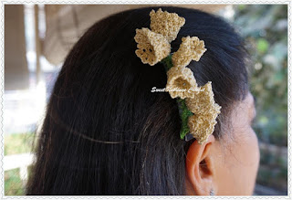 free crochet pattern Lily of the Valley hair barrette