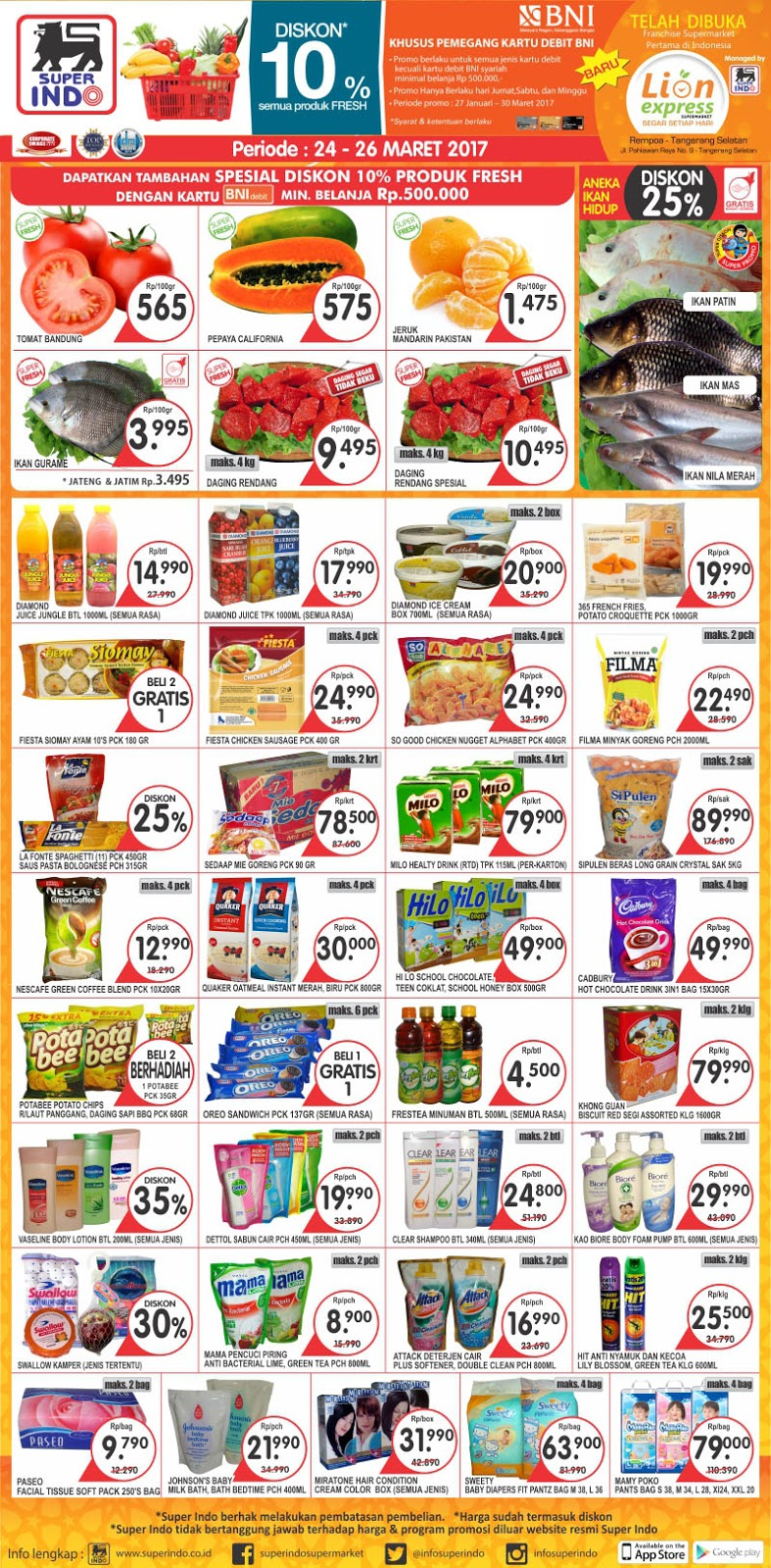 Permalink to Katalog Promo Superindo Akhir Pekan 31 Maret – 2 April 2017