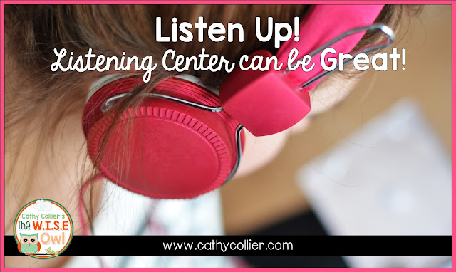 Listening Center is one of those centers I used to hate, but with a little adjustments, it's now one of my favorites. 1 book a month; a different purpose each week.