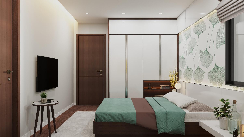 Phòng ngủ căn hộ Rose Town 79 Ngọc Hồi