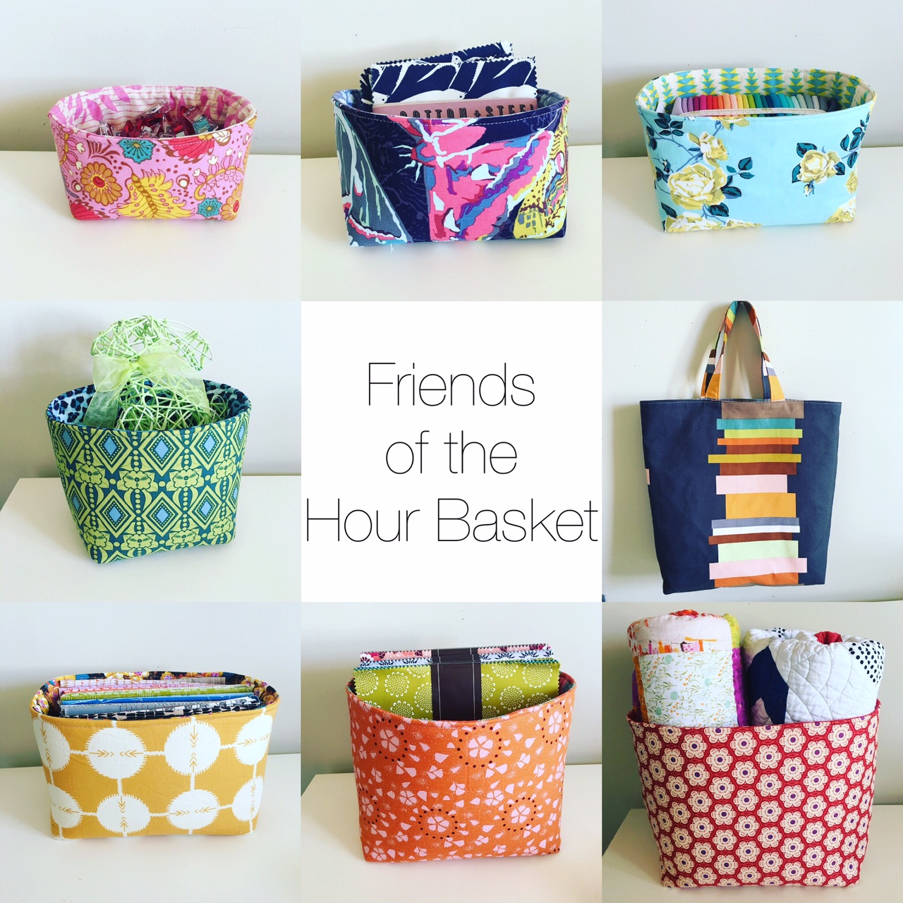 Hearts u0026 Bees Patterns  sc 1 st  Kelbysews & kelbysews: Friends of the Hour Basket