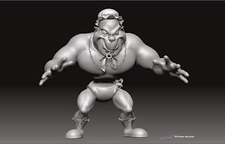 "Wrestling Ring-A-Lings_""Junior"" - Character design & 3D model - ©Pierre Rouzier"