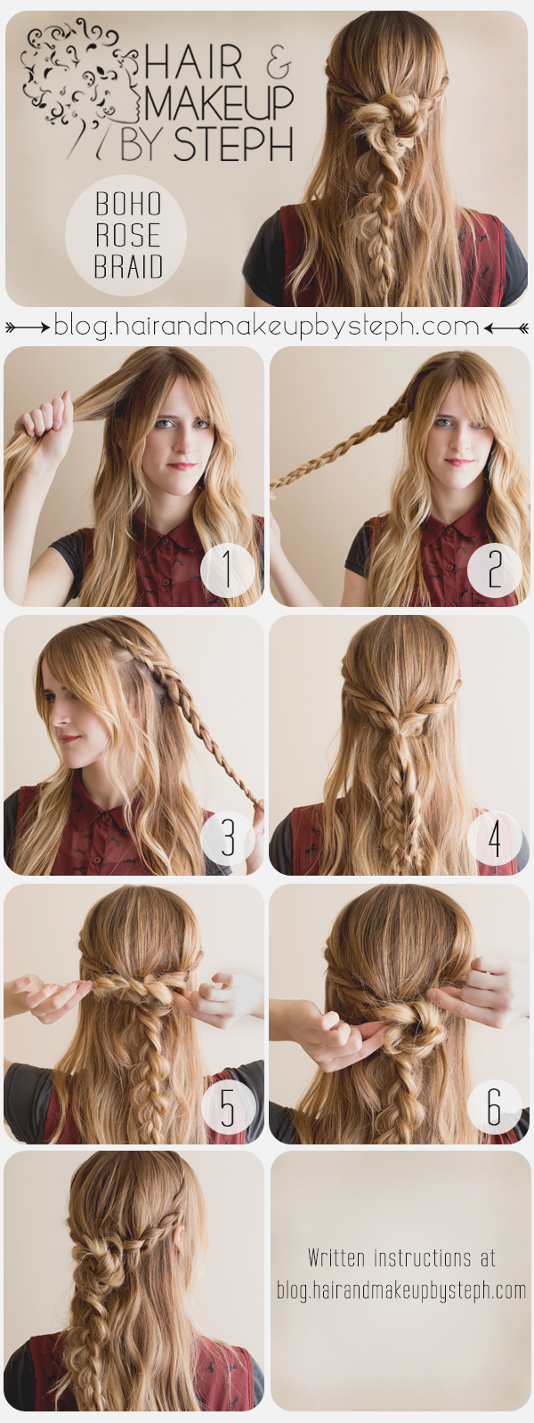 Pleasant Hair And Make Up By Steph Music Festival Series 3 Boho Rose Braid Short Hairstyles Gunalazisus