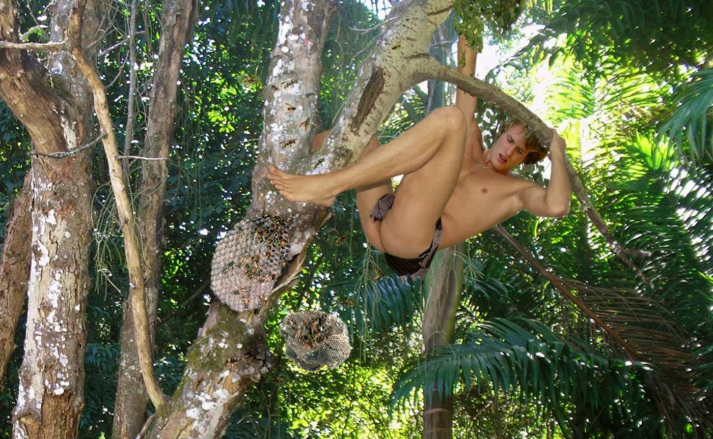Men tied up naked art