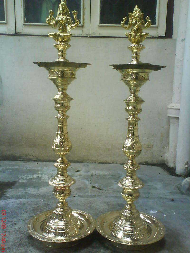 The Cultural Heritage Of India Brass Lamps Kutthu Vilakku Of Tamil Nadu India
