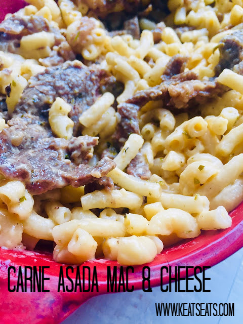 This Carne Asada Mac & Cheese is the perfect mouth-watering blend of main dish and side all in one package.