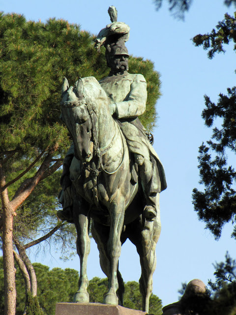 Monumento to Umberto I of Italy by Davide Calandra and Edoardo Rubino, Viale della Pineta, Villa Borghese gardens, Rome