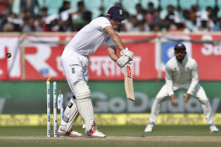 England Captain Alistair Cook Missed and Clean Bowled by Shami